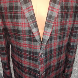 IZOD mens blazer. Jacket. Plaid.